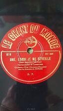 UKRAINIAN 78 rpm RECORD Le Chant du Monde ORCHESTRE D´ETAT UKRAINIEN Doumka