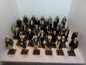 Vintage 1964 Presidents Marx Toys Miniature Statues Washington-Johnson NM