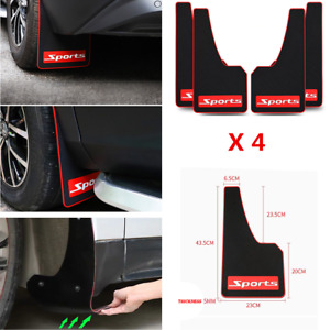4Pcs Black Car Truck Sports Fender Mud Flaps Mudguards Splash Guards Accessories