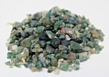 50 Gram (1.76 oz) Loose Green MOSS AGATE Chips 5 -15 mm, Semi Tumbled Stones