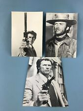 Postcard of Clint Eastwood as Dirty Harry LOT OF 3 VINTAGE
