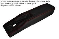 Rojo Stitch Centro Consola túnel Cuero Piel tapa se ajusta Corvette C3 77-82