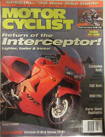 Motorcyclist Magazine January 1998 Return of the Interceptor Harley Davidson Duc