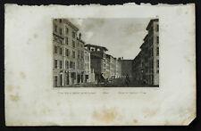 1836:ROMA,CASA RAFFAELLO,VIA DE CORONARI.AUDOT.Acciaiio