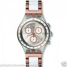 Swatch Watch Classic Collection 2014 Hat Trick SVCK4080AG Diaphane Chrono