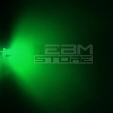 100 pz led FLAT TOP verdi alta luminosità 15.000 mcd 5 mm - ART. AH03