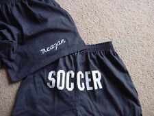 Personalized Black Shorts Soccer Team Sports Printed Butt shorts Ladies Adult