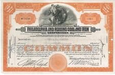 Philadelphia and Reading Coal and Iron > 1935 old stock certificate share
