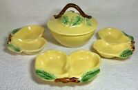 Vintage 5-Piece Belmar California Pottery Yellow Pear Serving Set #320