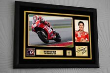 Nicky Hayden A3 1 to 69 Ltd. Ed. Motor Cycle Framed Canvas Print Signed Memorial