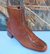 SUPREME- SOLE and LIFETIME SOLE - HEELS Leather Ankle Boot Brown Size 10.5 D