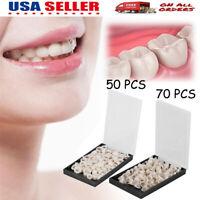 50/100PCS Dental Teeth Temporary Oral Care Resin Crown Anterior/Molar Teeth US
