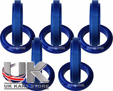 Aluminium Kart Wheel Spacers 17mm x 5mm - Pack of 10 - Blue - Highest Quality