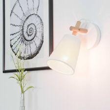 Lumière Murale Blanc Scandinaves Design Clair Bois Beige Abat-Jour Souple