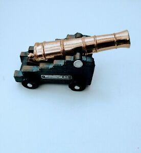 Vintage Washington DC Cast Iron & Brass Barrel Miniature Replica Toy Cannon