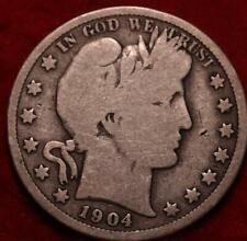 1904-S San Francisco Mint Silver Barber Half Dollar