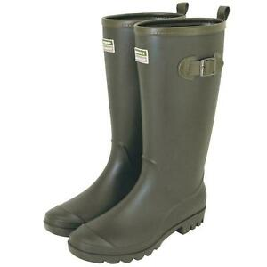 Town & Country Wellington Boots - Lightweight PVC - Green - The Burford - Size 9