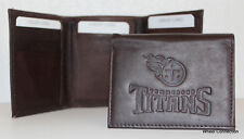 Tennessee Titans Brown Trifold Genuine Leather Wallet Baseball MLB Great Gift