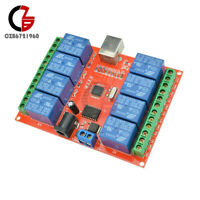 8CH 8 Channel DC 12V Relay Control Board USB ULN2803 Driver Module For AVR ARM