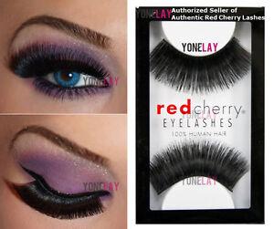 Lot 6 Pairs GENUINE RED CHERRY #101 Blackbird Human Hair Lashes False Eyelashes
