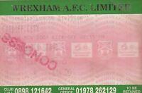 Ticket - Wrexham v Cardiff City 04.11.01