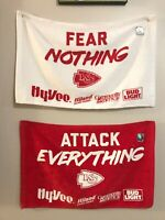 Fear Nothing, Attack Everything - KC Chiefs - RARE Rally Towel Set - Eric Berry