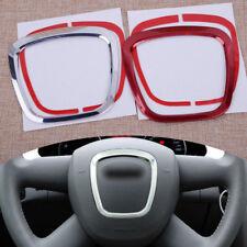 Aluminum Alloy Auto Steering Wheel Sticker Emblem Trim For Audi A3 A4L A6L Q3 Q5