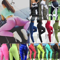 Women Yoga Push Up Fitness Leggings Gym Stretch Sports Jogging Pants Trousers