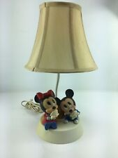 VINTAGE Baby Minnie & Mickey Mouse Lamp with NightLight Disney 1984