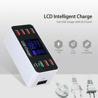 8 Multi-Port USB Adapter Desktop Wall Charger Smart Quick Charging Station 3.0 R