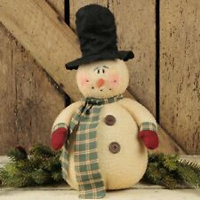 Small Rolly Polly Chubby Frosty Snowman Christmas Winter Decoration Honey And Me