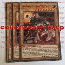 SET 3x COTD-IT099 Golem-Ingranaggio Antico - Picchiatore Finale COMUNE ITALIANO