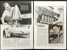 """R-6 Eight Ball 1938 Racing Planes Keith Rider pictorial """"The Secrets of Speed"""""""