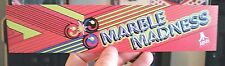 Marble Madness Marquee sticker. 2.25 x 10.25. Buy 3 stickers, Get One Free!