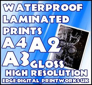 Weatherproof Advertising Poster Prints A4 A3 A2 waterproof