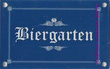 Schild Kunststoff Biergarten Wetterbeständig Garten Bier Bayern trinken feiern
