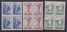 Finland 1955 Mint MNH 4 Full Sets Blocks of 4 Red Cross Stories Fænrik Stål