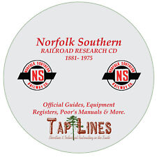 NORFOLK SOUTHERN - OFFICIAL GUIDES, EQUIPMENT REGISTERS & RESEARCH SCANNED TO CD