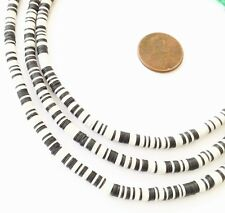Magic mixed Black/White Recycled Phono Record Vinyl African trade beads-Ghana