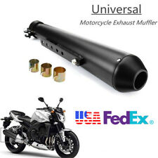 "17.5"" Motorcycle Exhaust Muffler Pipe Sliding Bracket Left Right Universal Usa"