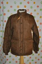 Vintage MEN`S SWINGSTER S BROWN PUFF ZIP UP & SNAP COAT JACKET USA  VERY NICE !!