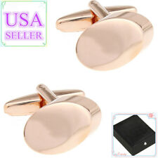 Hot Sale Men Cufflinks Rose Gold Color Metal Cuff Links With Gift Box