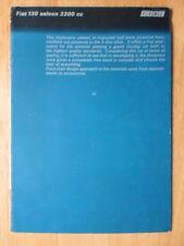 FIAT 130 SALOON orig c1972 UK Mkt prestige sales brochure - 3200cc