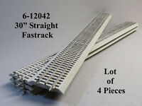 """LIONEL FASTRACK 30"""" INCH LONG STRAIGHT TRACK LOT (4) PCS O GAUGE 6-12042-(4) NEW"""