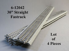 "LIONEL FASTRACK 30"" INCH LONG STRAIGHT TRACK LOT (4) PCS O GAUGE 6-12042-(4) NEW"
