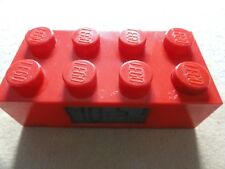 Red Lego Digital Alarm Clock with Light