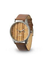 Laimer Wood Wrist Watch Noa 0078 from Zebrano Leather Wrist Band Unisex