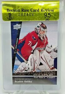 2009-10 BGS 9.5 UPPER DECK YOUNG GUNS ROOKIE RC SP BRADEN HOLTBY
