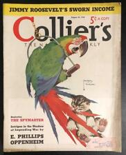 Collier's Aug 20, 1938 Wildlife; Wormser, Oppenheim, Kathleen Norris, Chester...