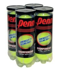 Penn Championship Extra Duty Tennis Balls for Sports Equipment 4-Can Pack
